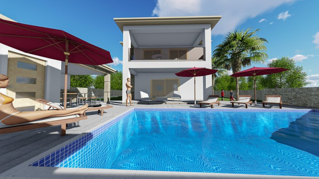 Swimming pool / 3D visualization