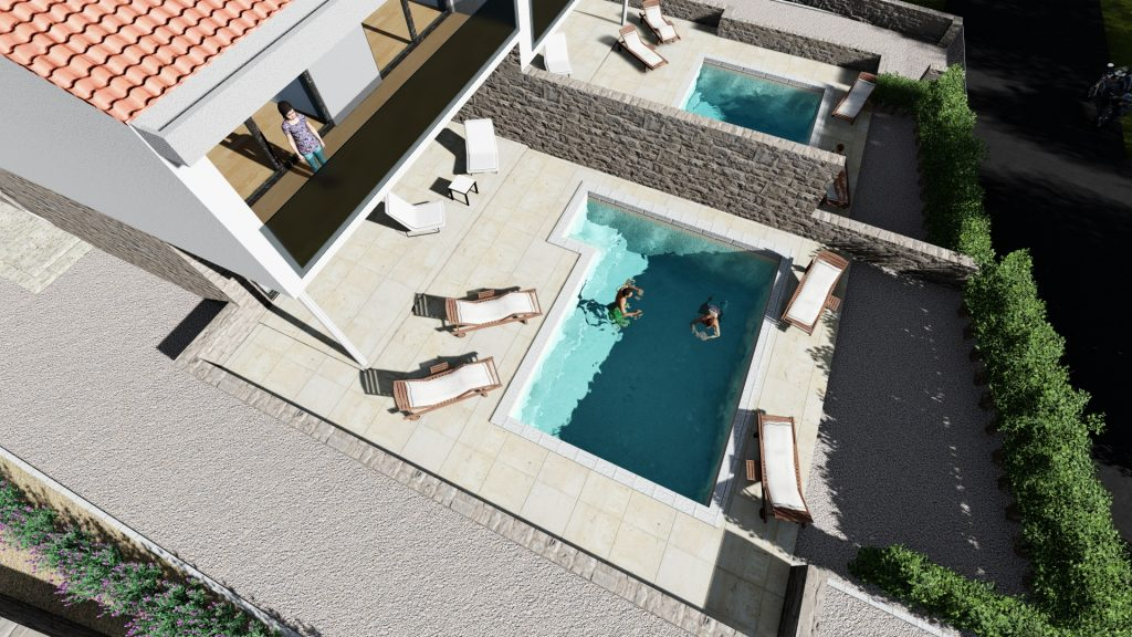 3D outside view / 3D Swimming pool