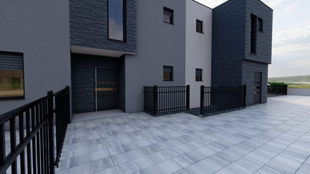 Two floor house - exterior  / 3D visualization