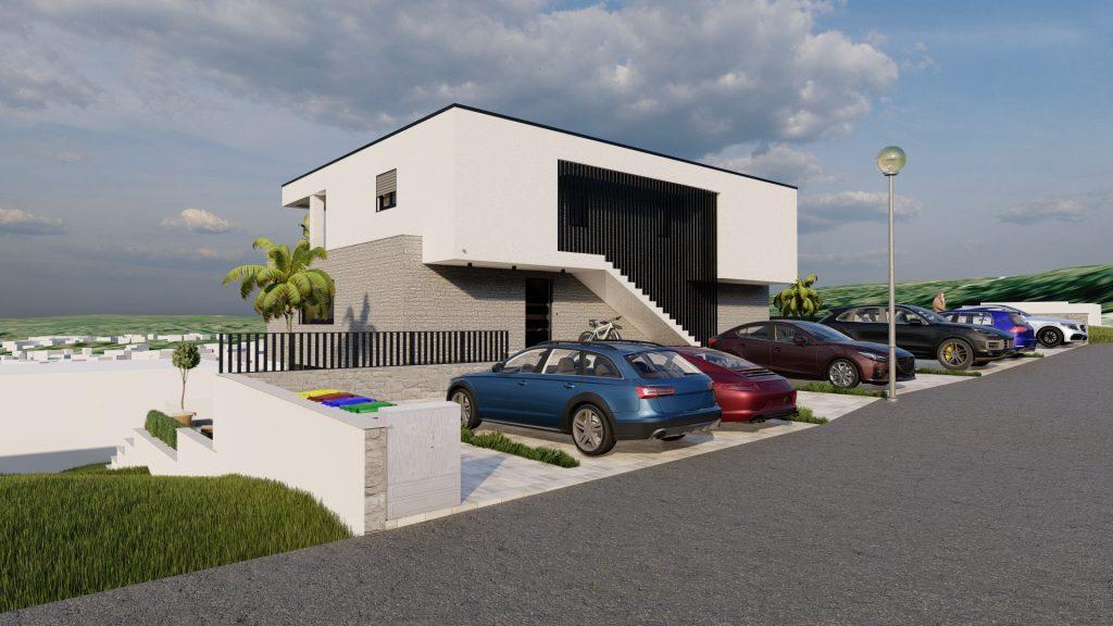 3d vizualizacija moderne kuće Njivice - 3d visualization od modern house