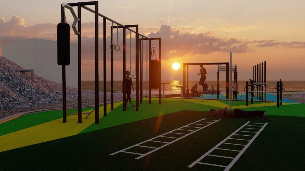 3d vizualizacija vježbališta u Malinskoj - 3d visualization of the training ground