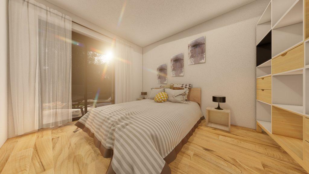 3d vizualizacija spavaće sobe