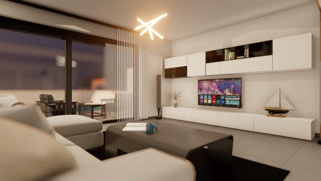 dnevni boravak - living room - vizualizacija